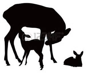 Deer Family Silhouette