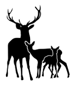 148x175 Deer Hunting Decals Stickers