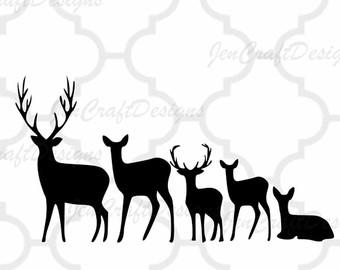 340x270 Deer Family Etsy