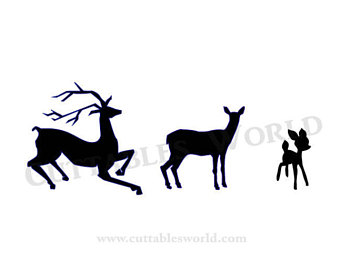 340x270 Fawn Silhouette Etsy