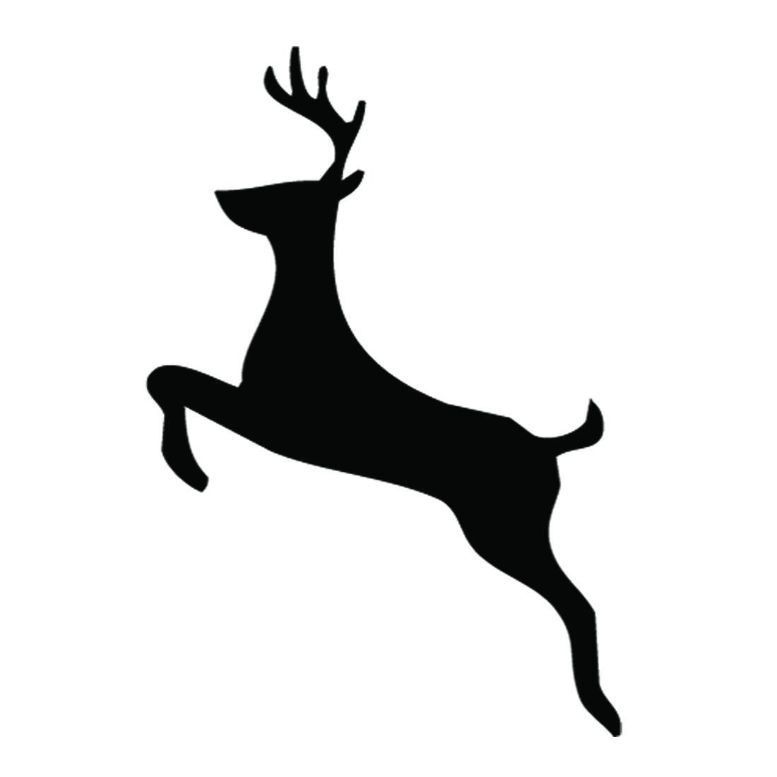 1100x1100 Reindeer Silhouette Stencil 02 Scrapbook