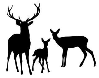 320x251 Deer Family 2 Decal Sticker