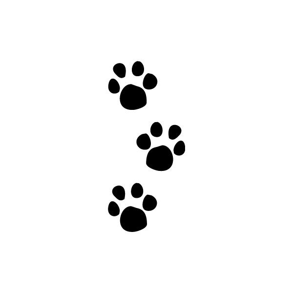 600x600 Animal Tracks Clipart