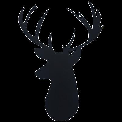 400x400 Deer Head Wall Emblem