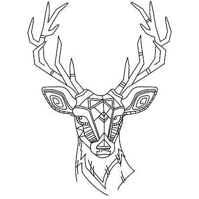 406x406 The Best Deer Head Tattoo Ideas Elk Tattoo