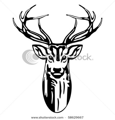 450x470 Deer Clipart Black And White Archives