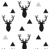 173x173 Deer Head Fabric, Wallpaper Amp Gift Wrap