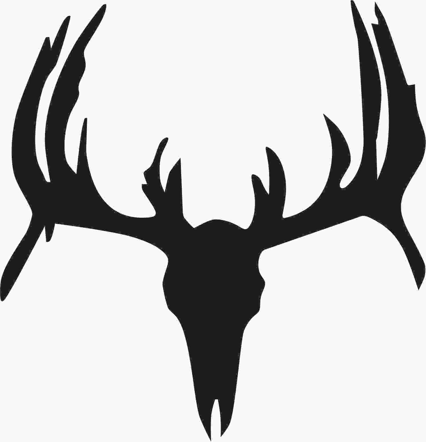 1486x1543 Best Free Deer Buck Silhouette Car Mule Head Black And White Cdr