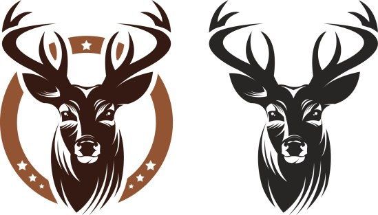 549x313 Deer Head Clip Art Vector