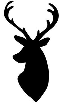 236x364 Deer Head Outline Clipart