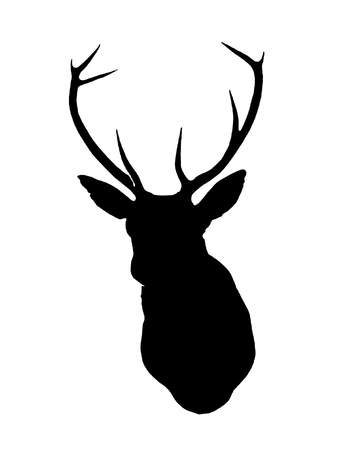 1236x1600 Deer Head Silhouette Clip Art