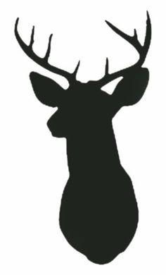 236x390 Deer Head Silhouette Clip Art
