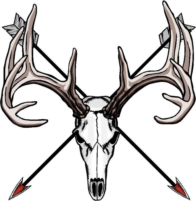 780x800 Deer Head Skull Clip Art