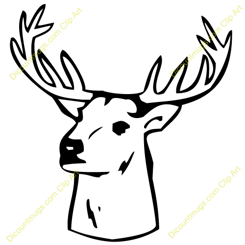 500x500 Deer Clipart Deer Head