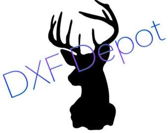 340x270 Deer Head Clip Art Etsy