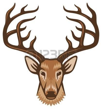 421x450 Deer Head Clipart