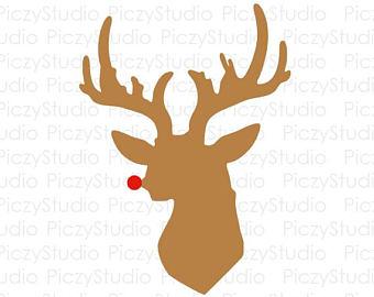 340x270 Deer Head Clipart Etsy