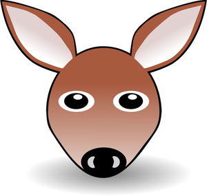 300x285 7624 Cartoon Deer Head Clip Art Public Domain Vectors