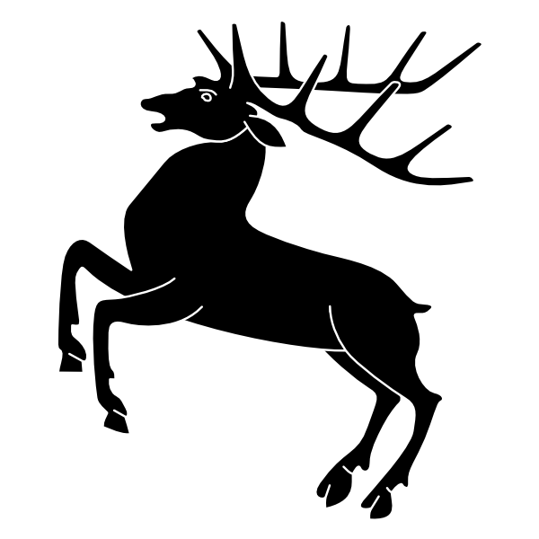 600x600 White Stag Cliparts 275131