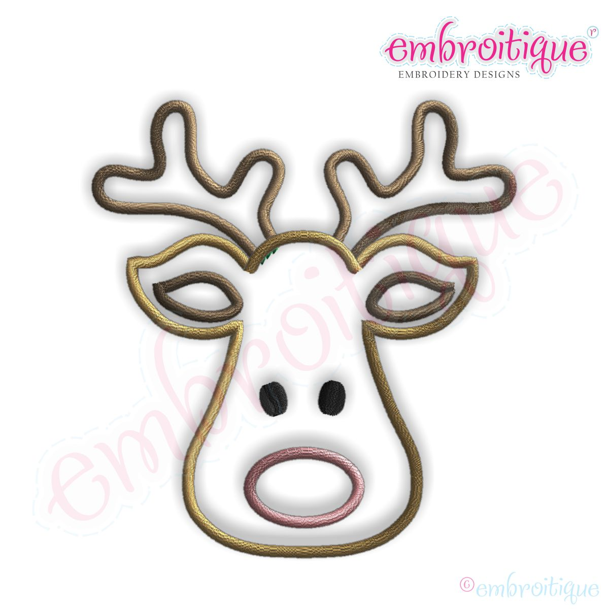 1200x1200 Deer Head Template