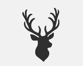 Deer head. Clipart black and white