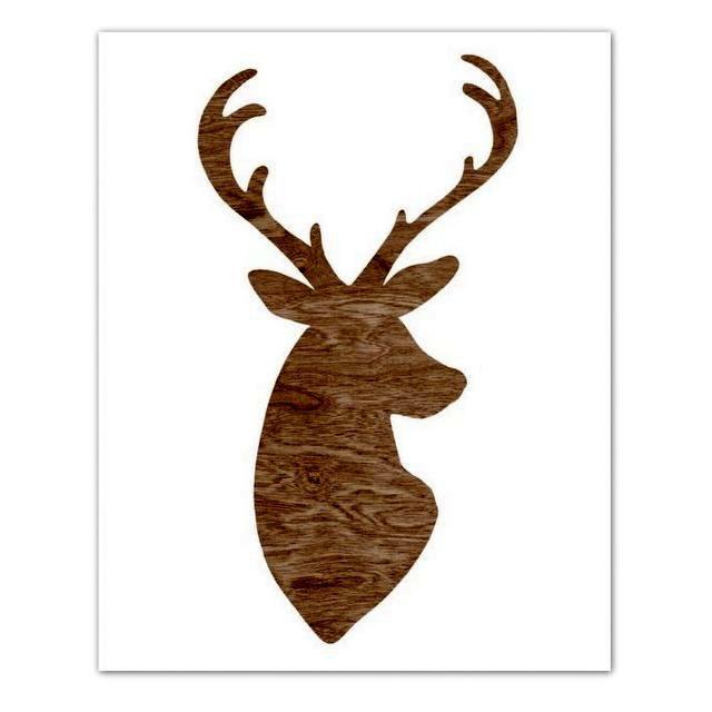 640x640 Deer Head Outline Clip Art