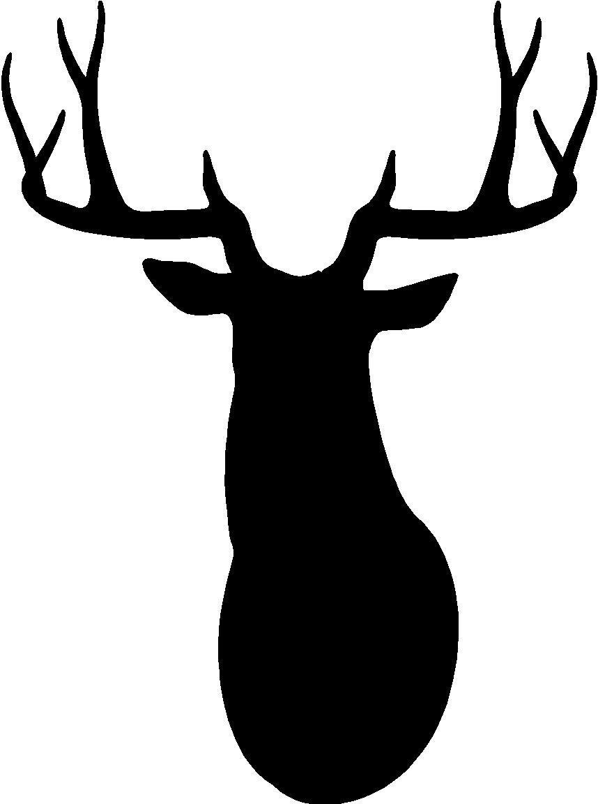 858x1152 Deer Head Silhouette Clip Art