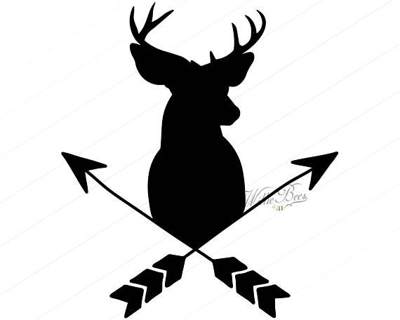 570x456 Deer Head With Arrows