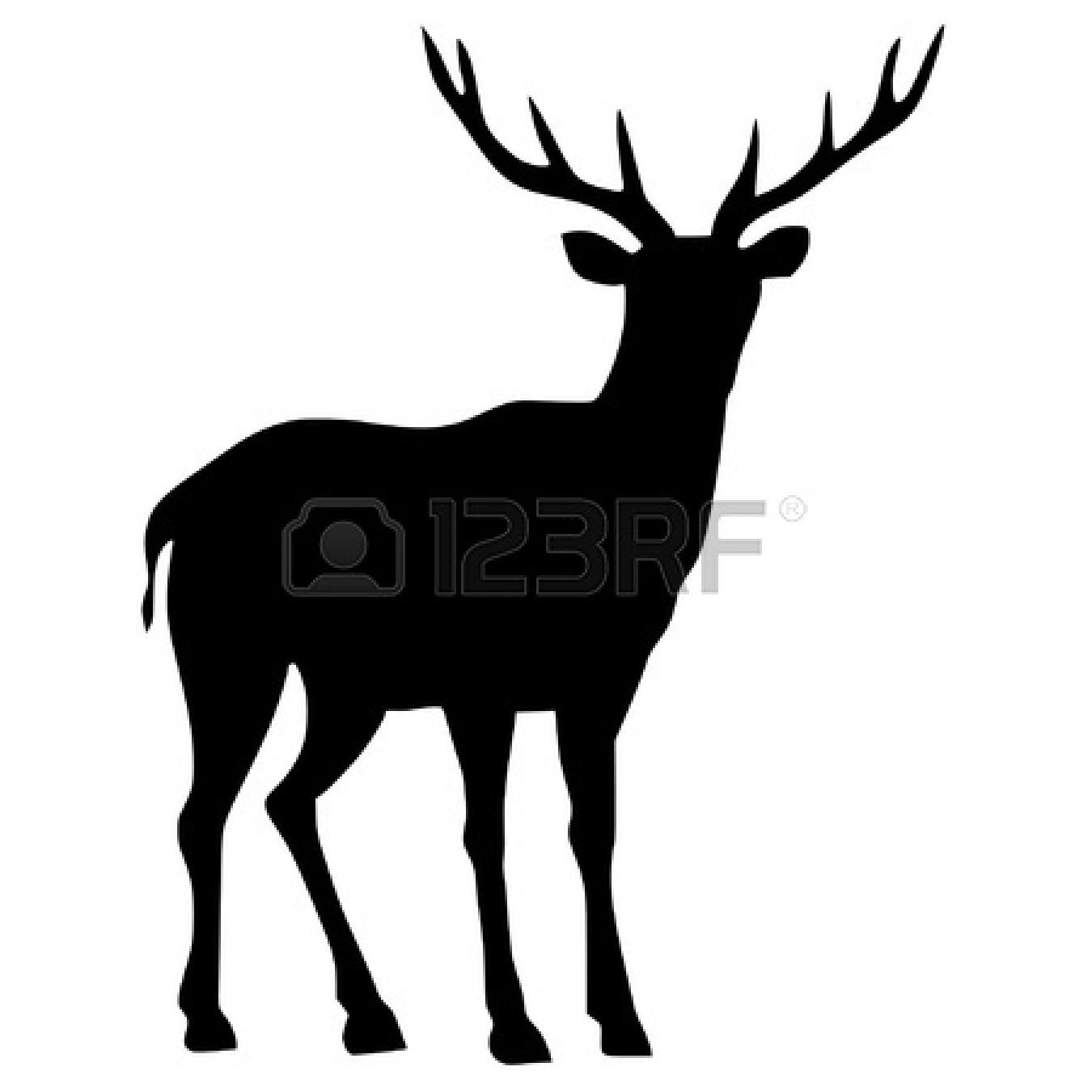 1350x1350 Deer Silhouette Clipart 2234766