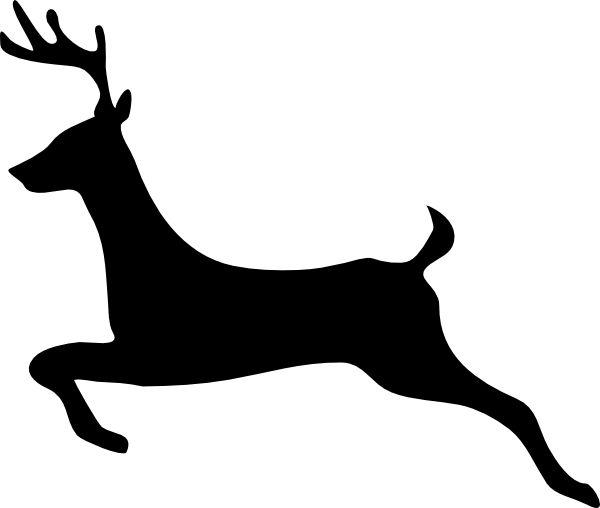 600x508 Deer Clip Art Silhouettes