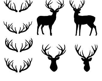 340x270 Deer Horn Clipart Etsy