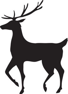 218x300 Best Reindeer Silhouette Ideas Christmas