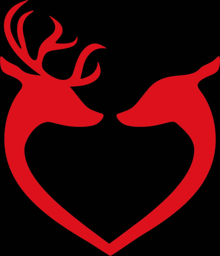 881x1024 Clipart Deer Couple Heart Silhouette Pertaining To Heart
