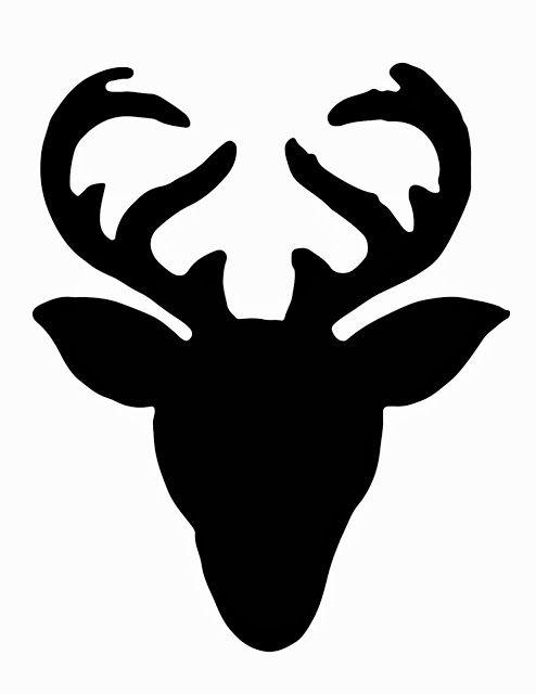 494x640 Deer Head Silhouette Clip Art