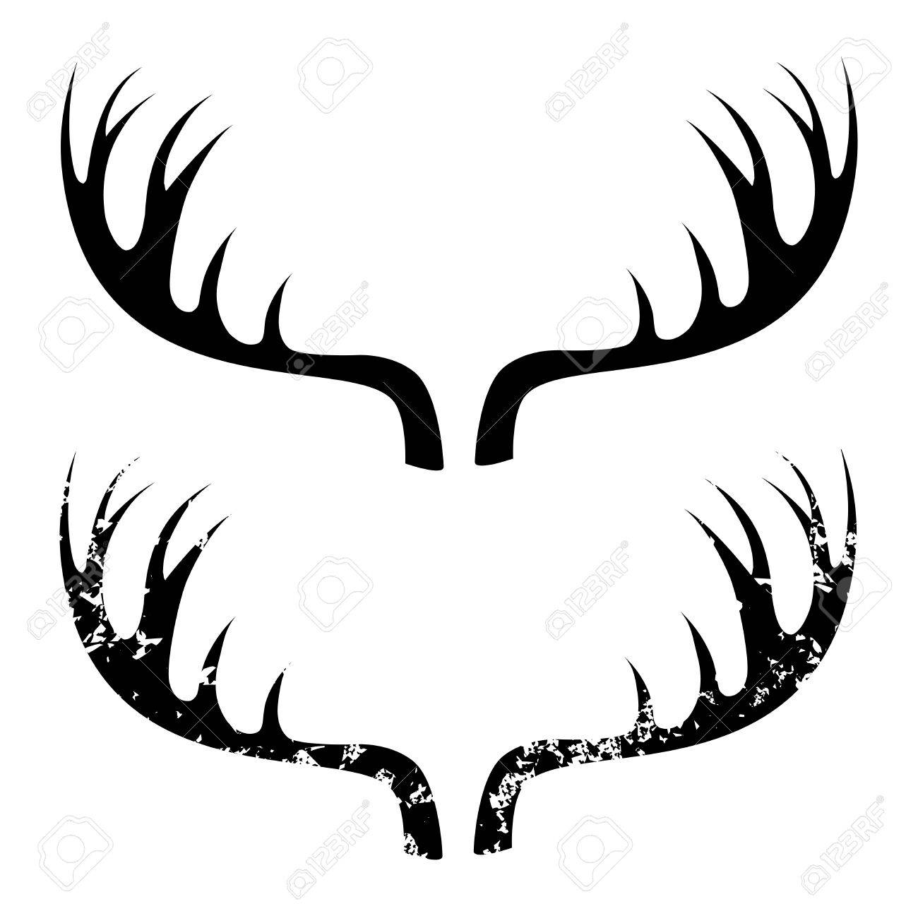 1300x1280 Deer Horns Royalty Free Cliparts, Vectors, And Stock Illustration