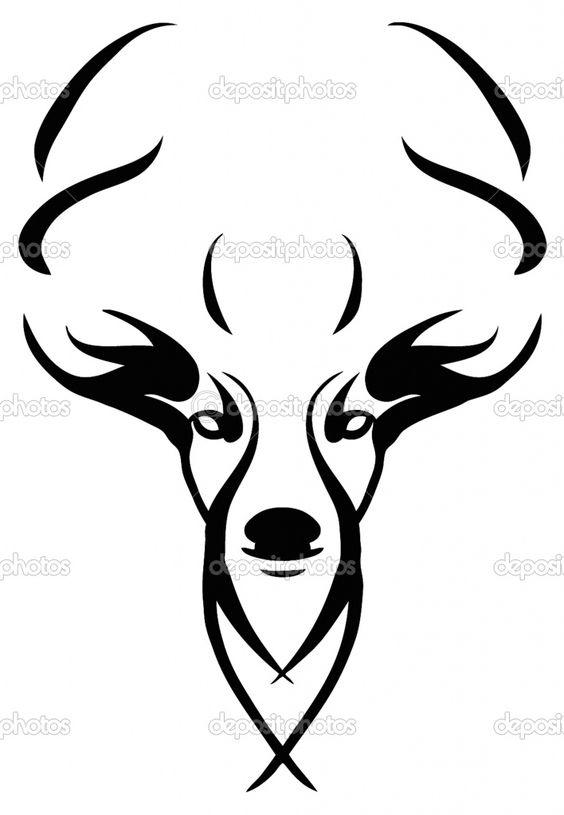 564x815 Deer Skull Clipart