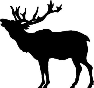 329x308 Elk Clipart 2 Image