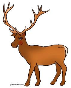 238x292 Free Elk Clipart