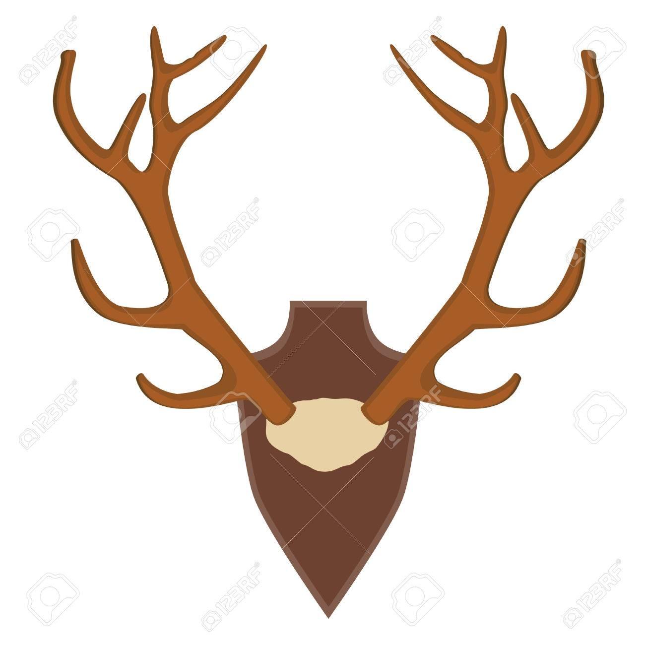 1300x1300 Illustration Of Deer, Antler Horns. Animal Horn Royalty Free