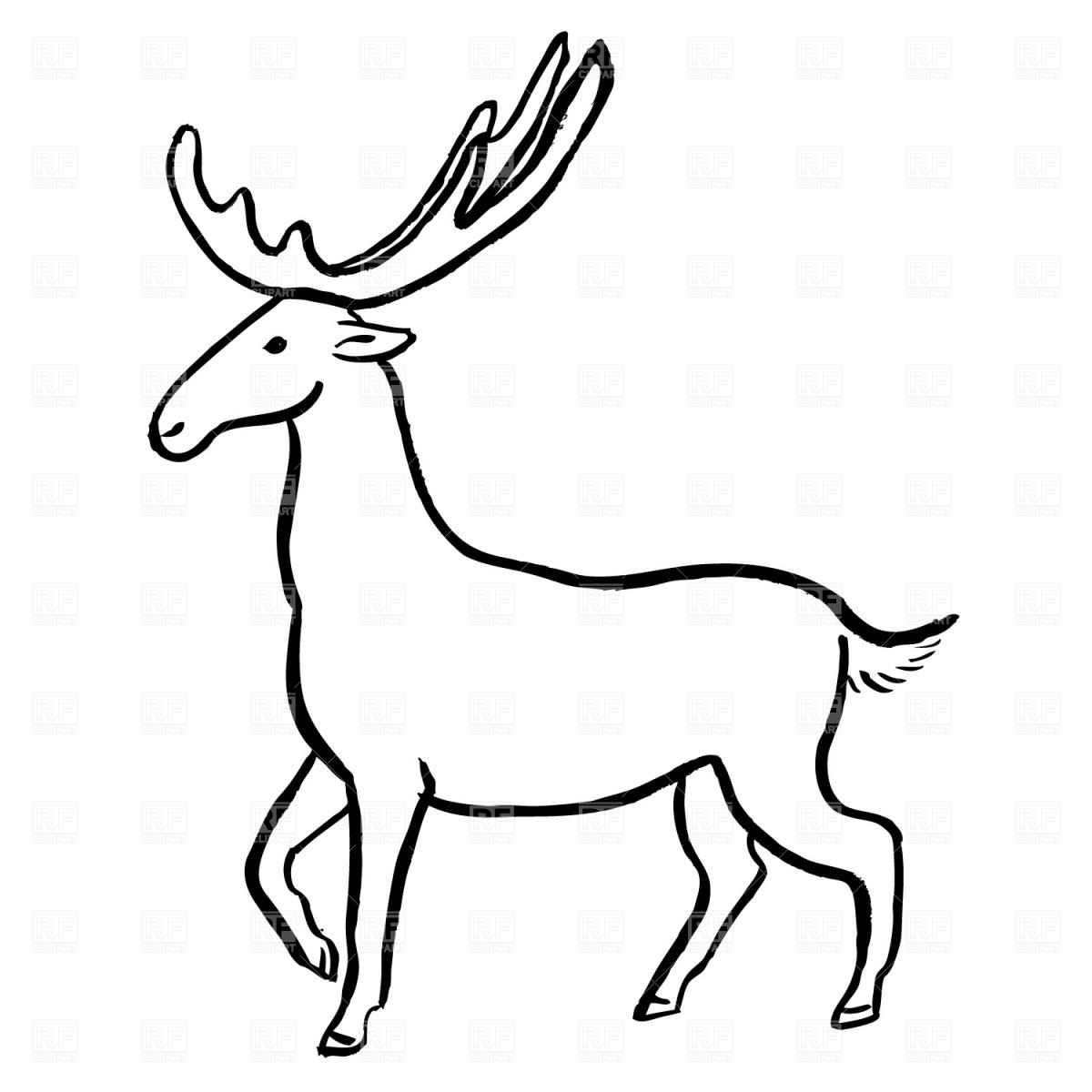 1200x1200 Moose Royalty Free Vector Clip Art Image