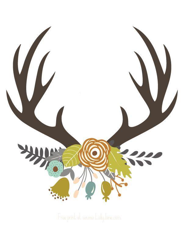 600x750 Best Antler Art Ideas Painted Antlers, Deer