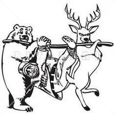 236x236 Deer Hunter In Tree Stand Clip Art