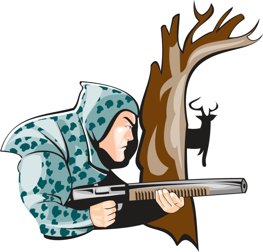 Deer Hunter Clipart | Free download best Deer Hunter ...