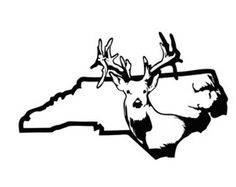 236x187 Deer Hunting Decal In Cross Hair Gun Sight Buck Vinyl Car Window
