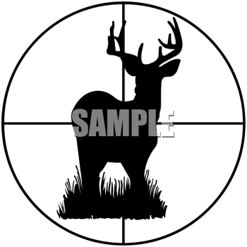350x350 Hunting Rifle Black And White Clipart