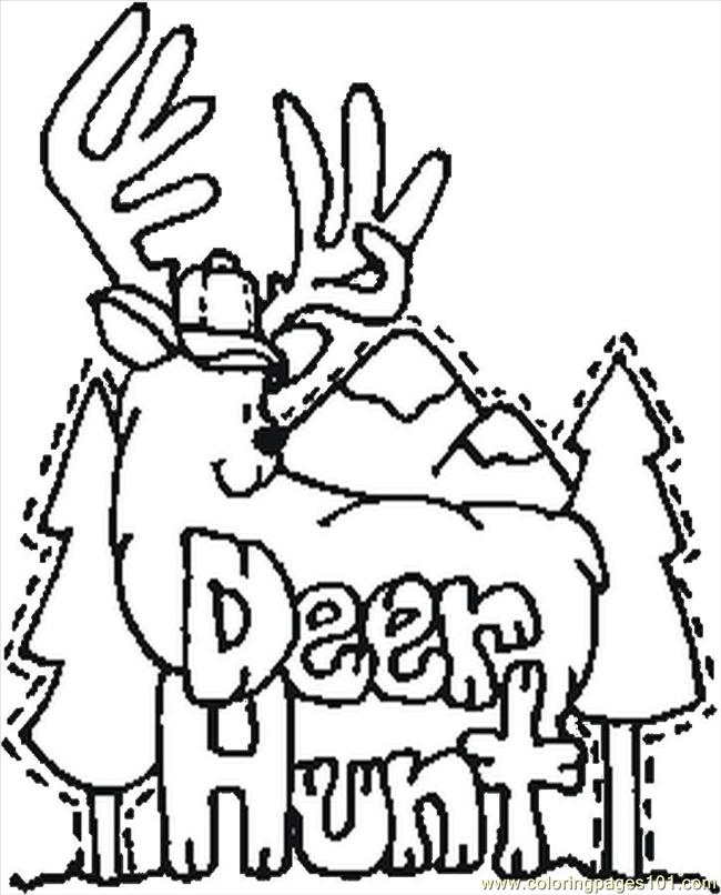 650x806 Deer Hunting Coloring Pages Many Interesting Cliparts