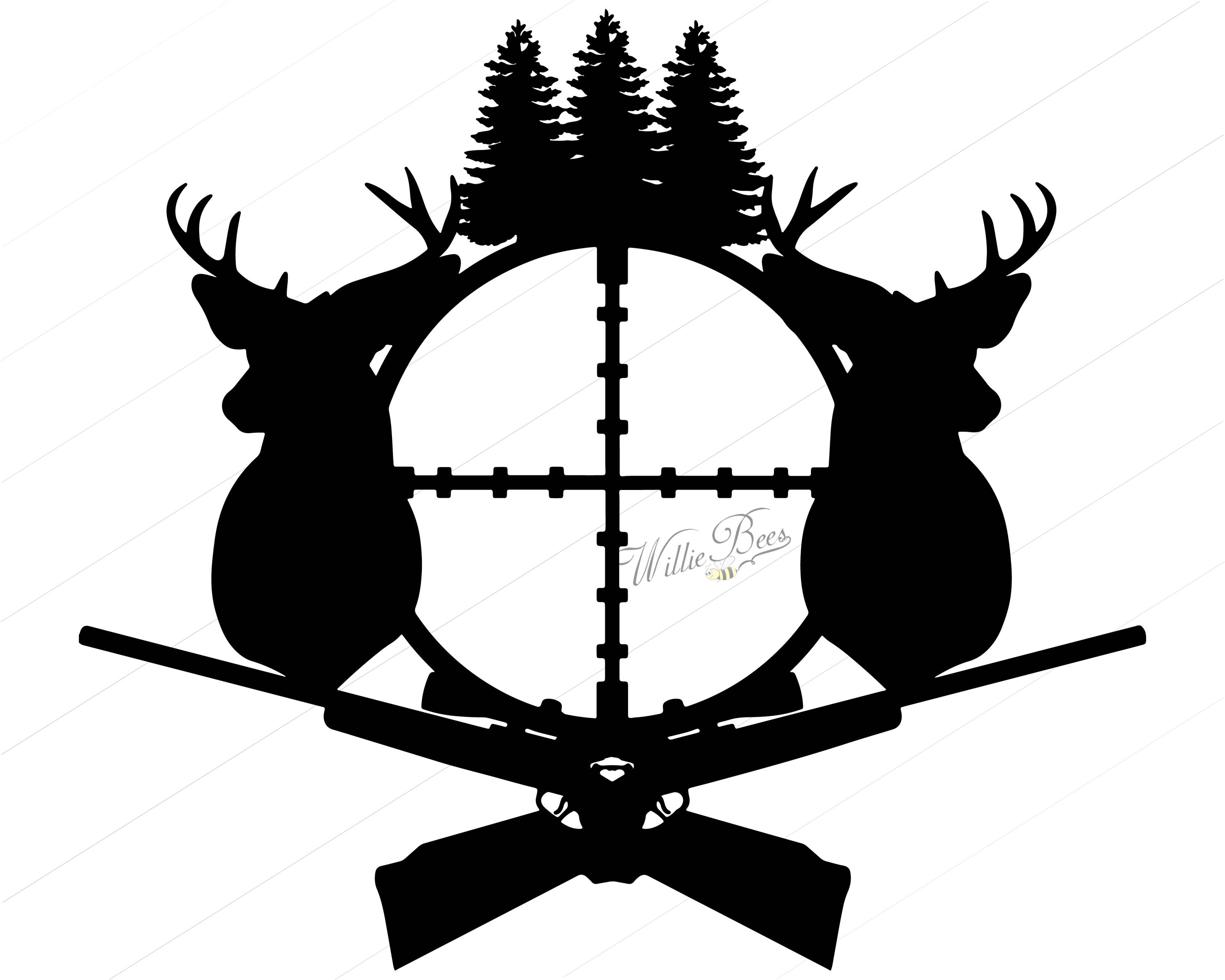 3000x2400 Deer Hunting Silhouette Clipart Gone Hunting Deer Rifle