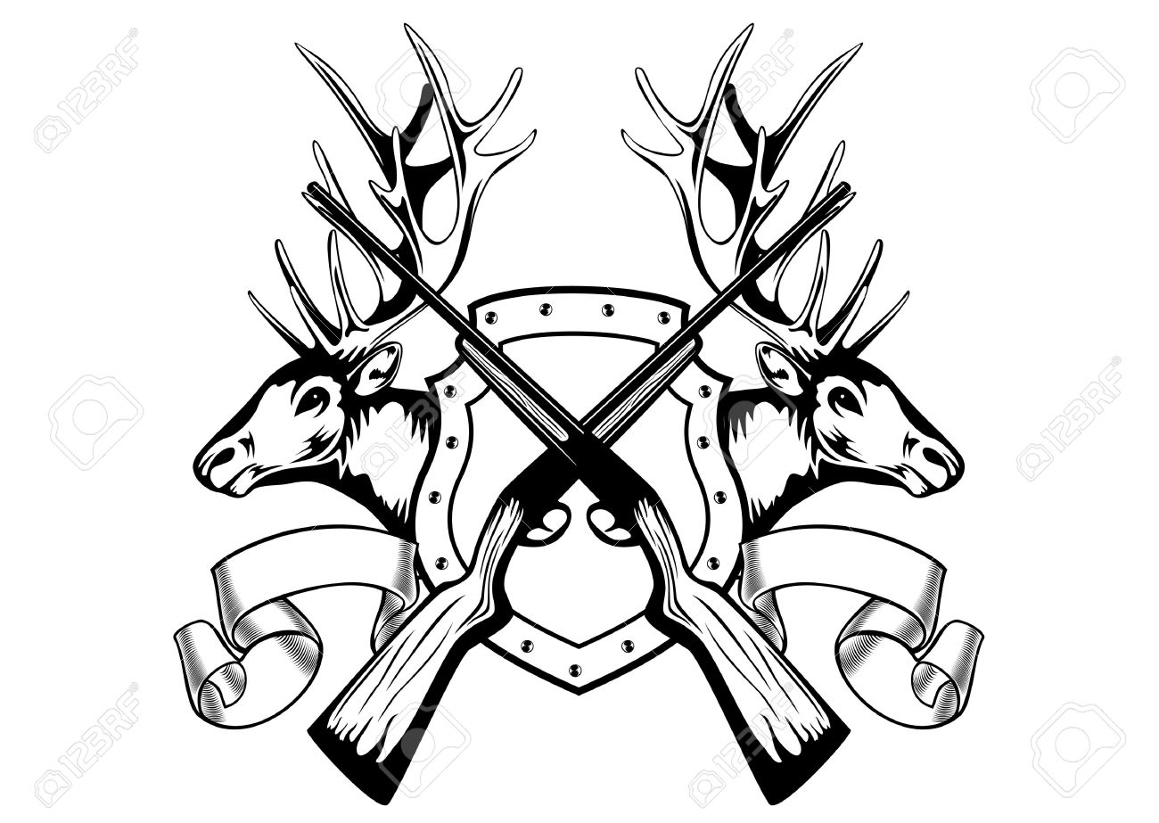 1300x923 Drawn Hunting Deer Hunting