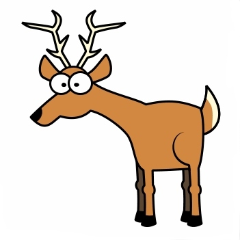 351x351 Funny Clipart Deer Hunting