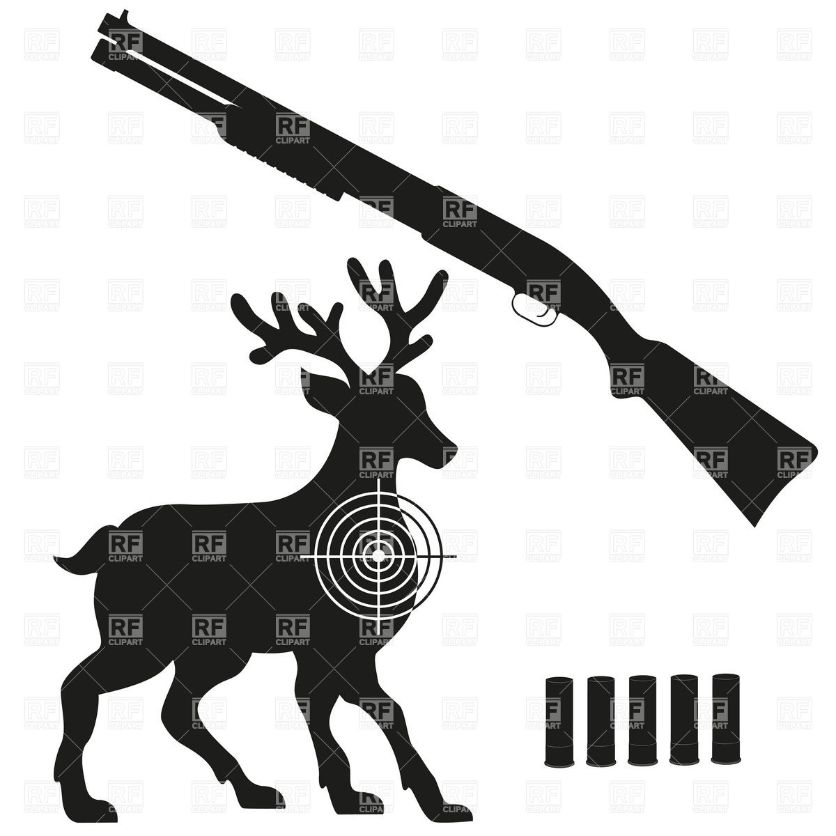 1200x1200 Hunting Clipart Deer Hunting